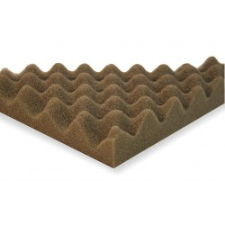 Sound Seal - CF1 - Acoustic Foam, Convoluted, Gray, 1in, PK4