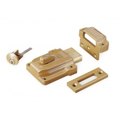 Yale / Assa Abloy - 112 - Brass Rim Lock, Heavy-Duty, For Door Thickness 1-3/8 to 2-1/4