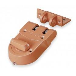 Yale / Assa Abloy - 197 - Bronze Rim Lock, Jimmyproof Deadlock, For Door Thickness 1-3/8 to 2-1/4