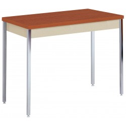 Sandusky Lee - AT4020PU - Adjustable Utility Table with Oak Tabletop and Putty Frame 40 x 20 x 24 to 36