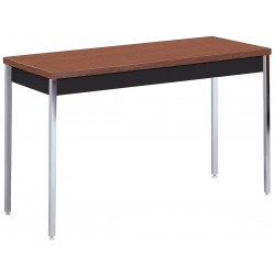 Sandusky Lee - AT6030BW - Adjustable Utility Table with Walnut Tabletop and Black Frame 60 x 30 x 24 to 36