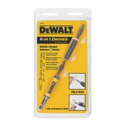 Dewalt - DW2330 - DeWALT DW2330 4Pc 6 IN 1 Driver # 2 PH/#8 SL - #2 SQ/#1 SQ 1/4'' Nutsetter, 5/16'' Nutsetter