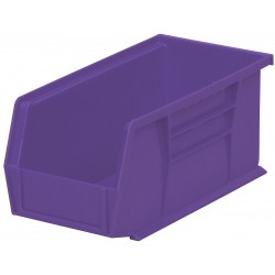 "Akro-Mils / Myers Industries - 30230PURPL - Hang and Stack Bin, Purple, 10-7/8"" Outside Length, 5-1/2"" Outside Width, 5"" Outside Height"