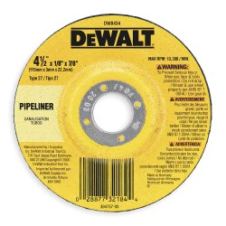 Dewalt - DW8751 - 4-1/2 Type 27 Aluminum Oxide Depressed Center Wheels, 5/8-11 Arbor, 3/32-Thick, 13, 300 Max. RPM