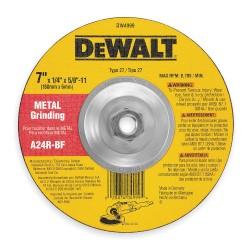 "Dewalt - DW8757 - 7"" x 3/32"" Depressed Center Wheel, Aluminum Oxide, 5/8""-11 Arbor Size, Type 27, Metal AO"