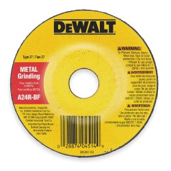 Dewalt - DW8806 - 4-1/2 Type 27 Zirconia Alumina Depressed Center Wheels, 7/8 Arbor, 1/8-Thick, 13, 300 Max. RPM