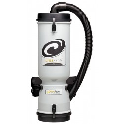 ProTeam - 100277 - 2-1/2 gal. Backpack Vacuum, 124 cfm, 6.2 Amps, HEPA Filter Type