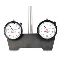 L.S. Starrett - 649-5 - Continuous Reading Spindle Square w/Indicators, AGD 2, 2.250 Dial Size, 0 to 1 Range