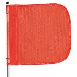 Checkers Industrial - FS3 - 3 ft. Fiberglass Whip, Plastic Coated Nylon Mesh Flag Warning Whip