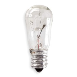 GE (General Electric) - 10S6/10-250V - 10.0 Watts Incandescent Lamp, S6, Candelabra Screw (E12), 66 Lumens, 2700K Bulb Color Temp.