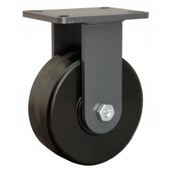 Hamilton Caster - R-CH-83PH - 8 Heavy-Duty Rigid Plate Caster, 3000 lb. Load Rating