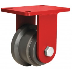 Hamilton Caster - R-EHD-FT45H - 4-1/2 Heavy-Duty Rigid Plate Caster, 3000 lb. Load Rating