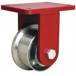 Hamilton Caster - R-EHD-FT5FH - 5 Heavy-Duty Rigid Plate Caster, 4200 lb. Load Rating