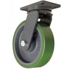 Hamilton Caster - S-CH-13DB - 10 Heavy-Duty Swivel Plate Caster, 3000 lb. Load Rating