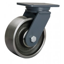 Hamilton Caster - S-CH-83FSB-4SL-FB - 8 Heavy-Duty Swivel Plate Caster, 4000 lb. Load Rating