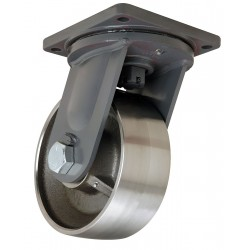 Hamilton Caster - S-MD-104FST-4SL - 10 Extra Super Duty Swivel Plate Caster, 18, 000 lb. Load Rating
