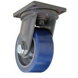 Hamilton Caster - S-MD-104SYT-4SL - 10 Heavy-Duty Swivel Plate Caster, 5000 lb. Load Rating