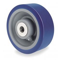 Hamilton Caster - W-1040-SYT-1-1/4 - 10 Caster Wheel, 5000 lb. Load Rating, Wheel Width 4, Polyurethane, Fits Axle Dia. 1-1/4