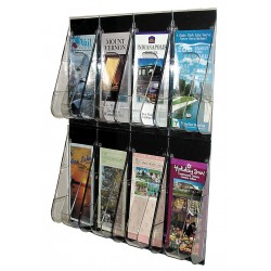 Deflect-O - 56201GR - Leaflet Holder, 8 Compartments, Clear