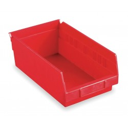 """Akro-Mils / Myers Industries - 30164RED - Shelf Bin, Red, 4""""H x 23-5/8""""L x 6-5/8""""W, 1EA"""