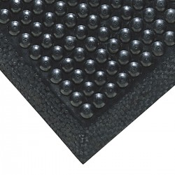 "Notrax - 447S3060BL - Antifatigue Mat, Rubber, 5 ft. x 2 ft. 6"", 1 EA"