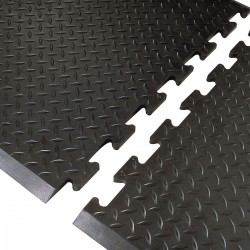 Notrax - 545M2831BL - Interlocking Antifatigue Mat, Rubber, Black, 2 ft. 7 x 2 ft. 4, 1 EA