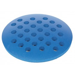 Bel-Art - 188480021 - Foam Rack, Round, Thick, W/holes, Blue, 1 Ea