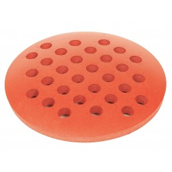 Bel-Art - 188480023 - +foam Rack, Round, Thick, W/holes, Red, 1 Ea