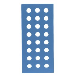 Bel-Art - 188480121 - Foam Rack, Rect, Thick, W/holes, Blue, 1 Ea