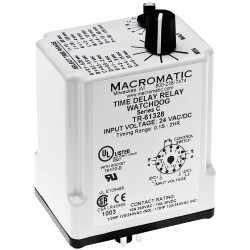 Macromatic - TR-61328 - Time Delay Relay, 24VAC/DC Coil Volts, 10A Contact Amp Rating (Resistive), Contact Form: DPDT