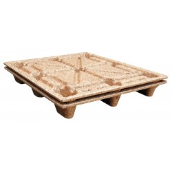 Other - PWP-4840 - 4-Way Nestable Recycled Pressed Wood Pallet, 40-1/4L x 48-1/4W x 5-5/8H