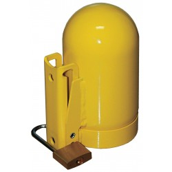 Saf-T-Cart - SC8FNNP-12 - Saf-T-Cart 3 1/8 - 11 Yellow Safety Fine Thread Snap Cap With Lock (For Use With High Pressure Cylinder), ( Each )
