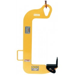 The Caldwell Group - 80H-1-8/16 - Coil Hook w/Pivoting Wedge, 2000 lb., Throat Height 16, Max. Coil Width 8