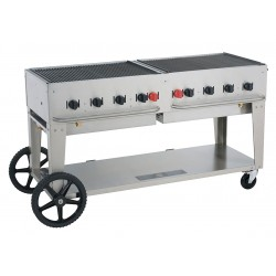 Crown Verity - MCB-60 - 129000 BtuH Stainless Steel Gas Grill with Two 20 lb. Tanks