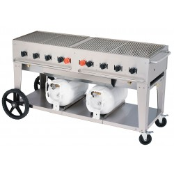 Crown Verity - CCB-60 - 129000 BtuH Stainless Steel Gas Grill with Two 30 lb. Tanks