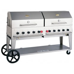 Crown Verity - MCB-72 - 159000 BtuH Stainless Steel Gas Grill with Two 20 lb. Tanks