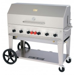 Crown Verity - MCB-48 - 99000 BtuH Stainless Steel Gas Grill with Two 20 lb. Tanks