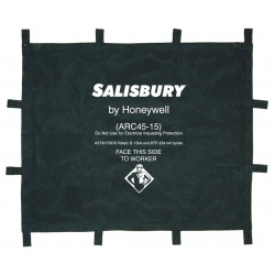 Honeywell - ARC45-15PS - Arc Protection Blanket, Length 4 ft., Width 5 ft., ASTM F2676, kA Rating 15, Navy Blue