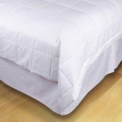 Ecopure - 5007633 - 90 x 66 Twin Reuse-Recycled Cotton Cover/Polyfill Filled Blanket, White
