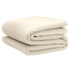 Martex - C101173 - 90 x 90 Queen Polyester Fleece Blanket, Ivory