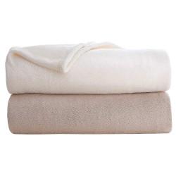 Martex - C101175 - 90 x 90 Queen Polyester Fleece Blanket, Khaki