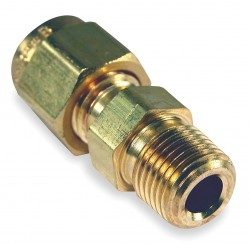 Tempco - FTGR-1019 - Compression Fitting, Bronze, Plug or Connector Type: 1/8 MNPT