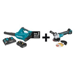 Makita - XBU02PT + XAG06Z - Cordless Blower Kit, 18V, Li-Ion Battery