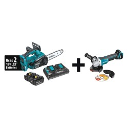 Makita - XCU02PT + XAG06Z - Cordless Chain Saw Kit, 36V, 4.0Ah