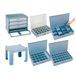 Durham - 119-95-D936 - Compartment Box, 12 Drawer Depth, 18 Drawer Width, Compartments per Drawer 9
