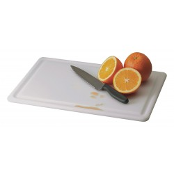 San Jamar - CB121812GVWHGR - 12 x 18 Co-Polymer Cutting Board, White