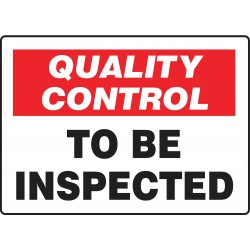 Accuform Signs - MQTL721VA - Quality Control Sign, 7 x 10In, ENG, Text
