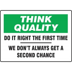 Accuform Signs - MQTL735VS - Quality Control Sign, 10 x 14In, ENG, Text