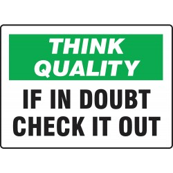 Accuform Signs - MQTL737VS - Quality Control Sign, 7 x 10In, ENG, Text