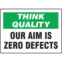 Accuform Signs - MQTL749VA - Quality Control Sign, 10 x 14In, ENG, Text